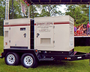 emergency systems rental generator